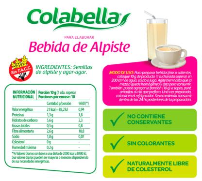 PREMEZCLA PARA BEBIDA DE ALPISTE 100 GR COLABELLA