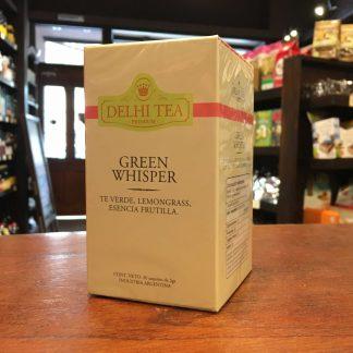 TE VERDE GREEN WHISPER 20 SAQUITOS DELHI TEA