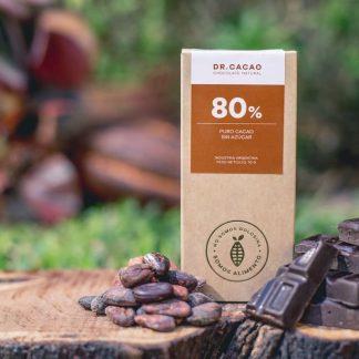Chocolate Cacao al 80% Sin Azúcar 70gr – Dr. Cacao