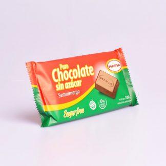CHOCOLATE SEMIAMARGO SIN AZÚCAR X 100GR MAPSA