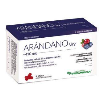 ARANDANO Ury (Arándano Rojo y Azul + Viatminas) X 30 capsulas PHARMAMERICAN