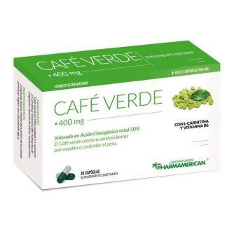 CAFE VERDE AL 50% X 30 capsulas ADELGAZANTE PHARMAMERICAN