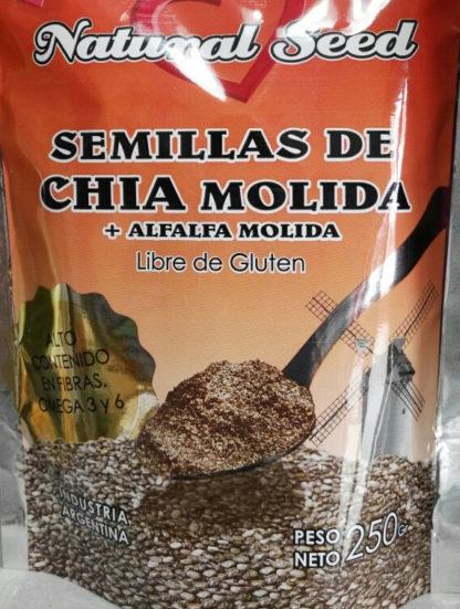 CHIA CON ALFALFA MOLIDA 250GR NATURAL SEED