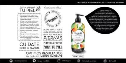 CREMA PARA LA PIEL EXTRA-HUMECTANTE Pera Silvestre y Macadamia 500GR VEGANIS