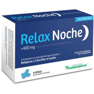 RELAX NOCHE Con 5-HTP-Valeriana-Tilo-Pasionaria 20 capsulas PHARMAMERICAN