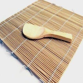 Esterilla Bambu de Varas Redondas 27 x 27 cm