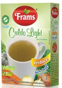 CALDO DE VERDURAS LIGHT SIN SAL / SIN TACC 6 SOBRES FRAMS