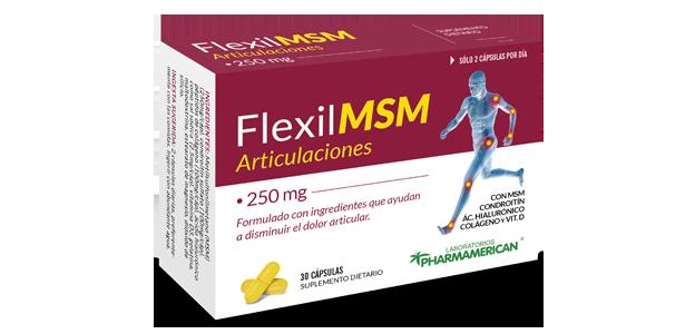 FLEXIL MSM ARTICULACIONES 250MG X 30 CAPSULAS PHARMAMERICAN