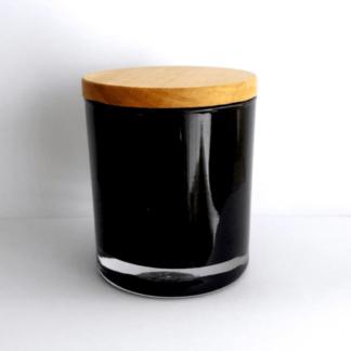 Velas Naturales 250ML Cuarzo Negro Tapa de Madera