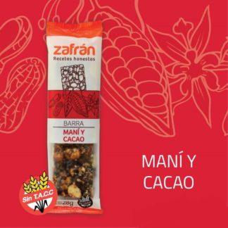 BARRA DE MANÍ Y CACAO x 28gr. ZAFRAN