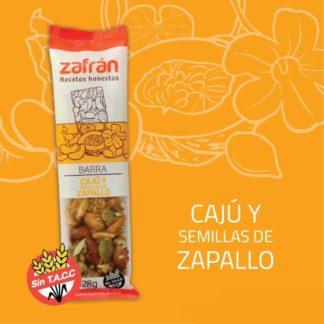 BARRA DE CAJÚ Y SEMILLAS DE ZAPALLO x 28gr. ZAFRAN