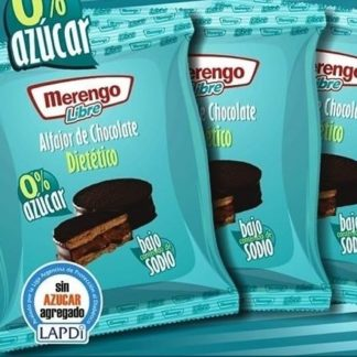 ALFAJOR DE CHOCOLATE DIETETICO 0% AZUCAR MERENGO