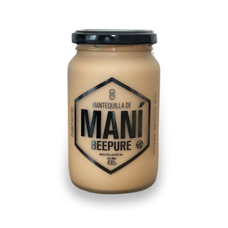 MANTEQUILLA DE MANÍ NATURAL 360gr. BEEPURE