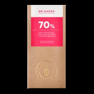 Chocolate 70% Puro Cacao con Avellanas y Azúcar Orgánico – Dr. Cacao