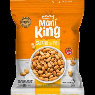 MANÍ PELADO CON SAL 120grs. – MANÍ KING